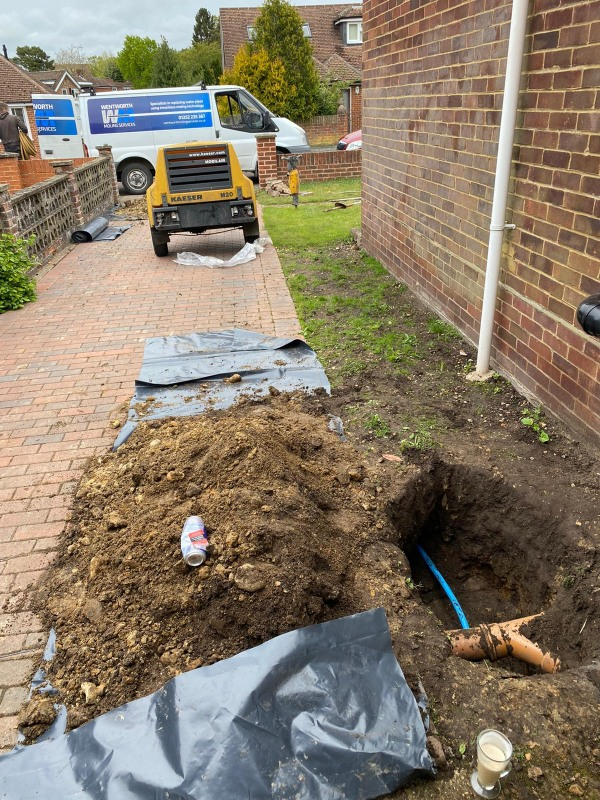 Moling to Upgrade Water Main in Frimley Surrey Wentworth Moling Services